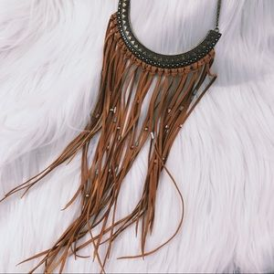 American Eagle Fringe Necklace